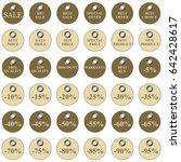 set of vintage stickers sale... | Shutterstock .eps vector #642428617