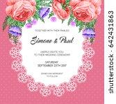wedding invitation template... | Shutterstock .eps vector #642431863