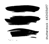 set of hand drawn grunge brush... | Shutterstock .eps vector #642435697