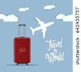 travel the world poster design... | Shutterstock .eps vector #642435757