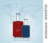travel the world poster design... | Shutterstock .eps vector #642435763
