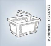 sketch image of empty plastic... | Shutterstock .eps vector #642437533