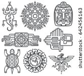ancient mexican mythology... | Shutterstock . vector #642456163