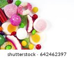colorful candies  jelly and... | Shutterstock . vector #642462397