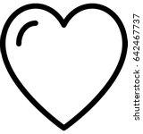 heart vector icon  | Shutterstock .eps vector #642467737
