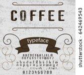 font handcrafted vector script...   Shutterstock .eps vector #642469543