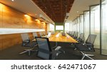 the interior style office... | Shutterstock . vector #642471067