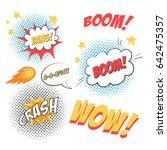 comic speech bubbles in pop art ... | Shutterstock .eps vector #642475357
