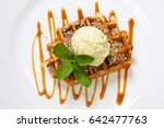 Belgian Waffle With Ice Cream ...