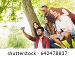 group of young people taking a... | Shutterstock . vector #642478837