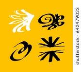 vector brush stroke. grunge ink ... | Shutterstock .eps vector #642479023