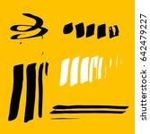 vector brush stroke. grunge ink ... | Shutterstock .eps vector #642479227