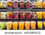 fresh chopped  chunk fruit... | Shutterstock . vector #642489313