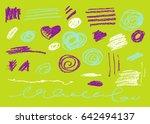 vector brush stroke. grunge ink ...   Shutterstock .eps vector #642494137