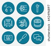 Set Of 9 Service Outline Icons...