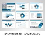 blue layout brochure design ... | Shutterstock .eps vector #642500197