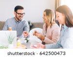 work team having lunch break  | Shutterstock . vector #642500473
