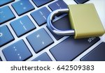 online digital data and cyber... | Shutterstock . vector #642509383