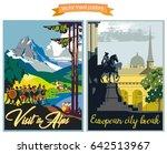 travel poster vectors... | Shutterstock .eps vector #642513967