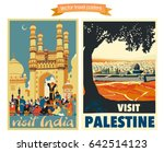 travel poster vectors... | Shutterstock .eps vector #642514123