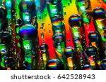 Abstract Rainbow Water Drop Cd...