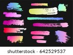 paint stains on a black... | Shutterstock .eps vector #642529537