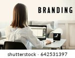 brand marketing concept. word... | Shutterstock . vector #642531397