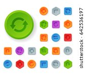 colorful website turn buttons... | Shutterstock .eps vector #642536197