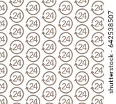 Pattern Background 24 Hours Icon