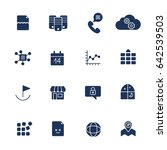 different icons for app ... | Shutterstock .eps vector #642539503