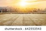 empty marble floor with... | Shutterstock . vector #642553543