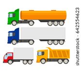 set of trucks icons.trucks and... | Shutterstock .eps vector #642554623
