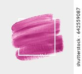 logo brush painted acrylic... | Shutterstock .eps vector #642559087