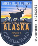 alaska state emblem  the dawn... | Shutterstock . vector #642563083