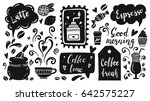 set of coffee time elements... | Shutterstock .eps vector #642575227