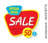 sale vector banner template  ... | Shutterstock .eps vector #642578773