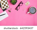 feminine work accessories on... | Shutterstock . vector #642593437