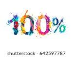 100  one hundred  percent.... | Shutterstock .eps vector #642597787