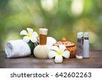 spa massage compress balls ... | Shutterstock . vector #642602263