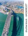sydney harbour bridge as seen... | Shutterstock . vector #642608107