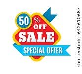 sale 50  off   vector concept... | Shutterstock .eps vector #642610687