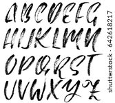 handwritten dry brush font....   Shutterstock .eps vector #642618217