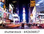 new york   nov 11  times square ... | Shutterstock . vector #642636817