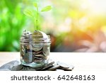 coins saving growth up to...   Shutterstock . vector #642648163