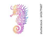 sea horse  vector illustration... | Shutterstock .eps vector #642679687