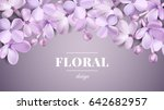soft pastel color floral 3d... | Shutterstock .eps vector #642682957