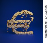 euro currency symbol cramles... | Shutterstock . vector #64268485