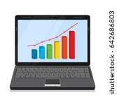 monitor of laptop with business ... | Shutterstock .eps vector #642686803