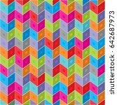 geometric color pattern | Shutterstock .eps vector #642687973