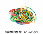 colourful rubber bands over... | Shutterstock . vector #64269004